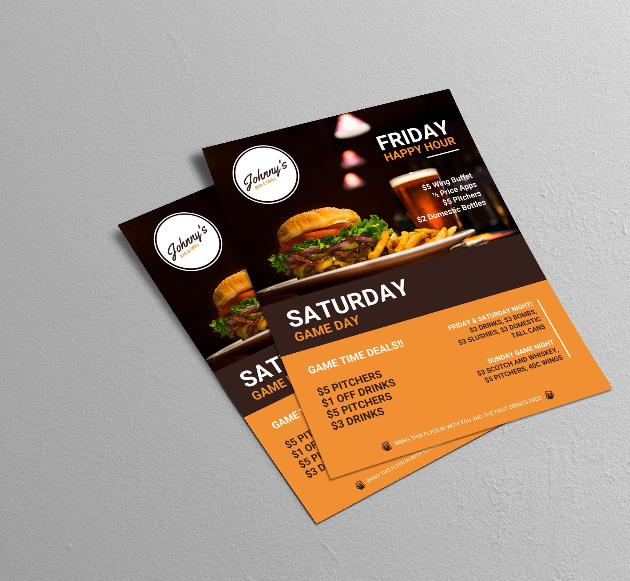 creative bar restaurant event flyer idea business poster examples creative poster examples