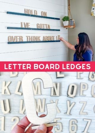 Wood Letter Board Ledge