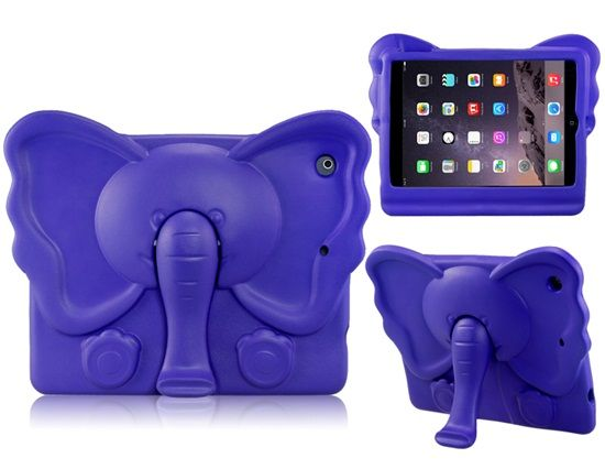 Lovely Elephant Design EVA Protective Case with Mount Stand for iPad 5 iPad Air Purple . $16.69. This elephant design protective case, made of high quality EVA, will protect the iPad 5  iPad Air from scratches, bumps and dust. It also adds a bright touch to your device.