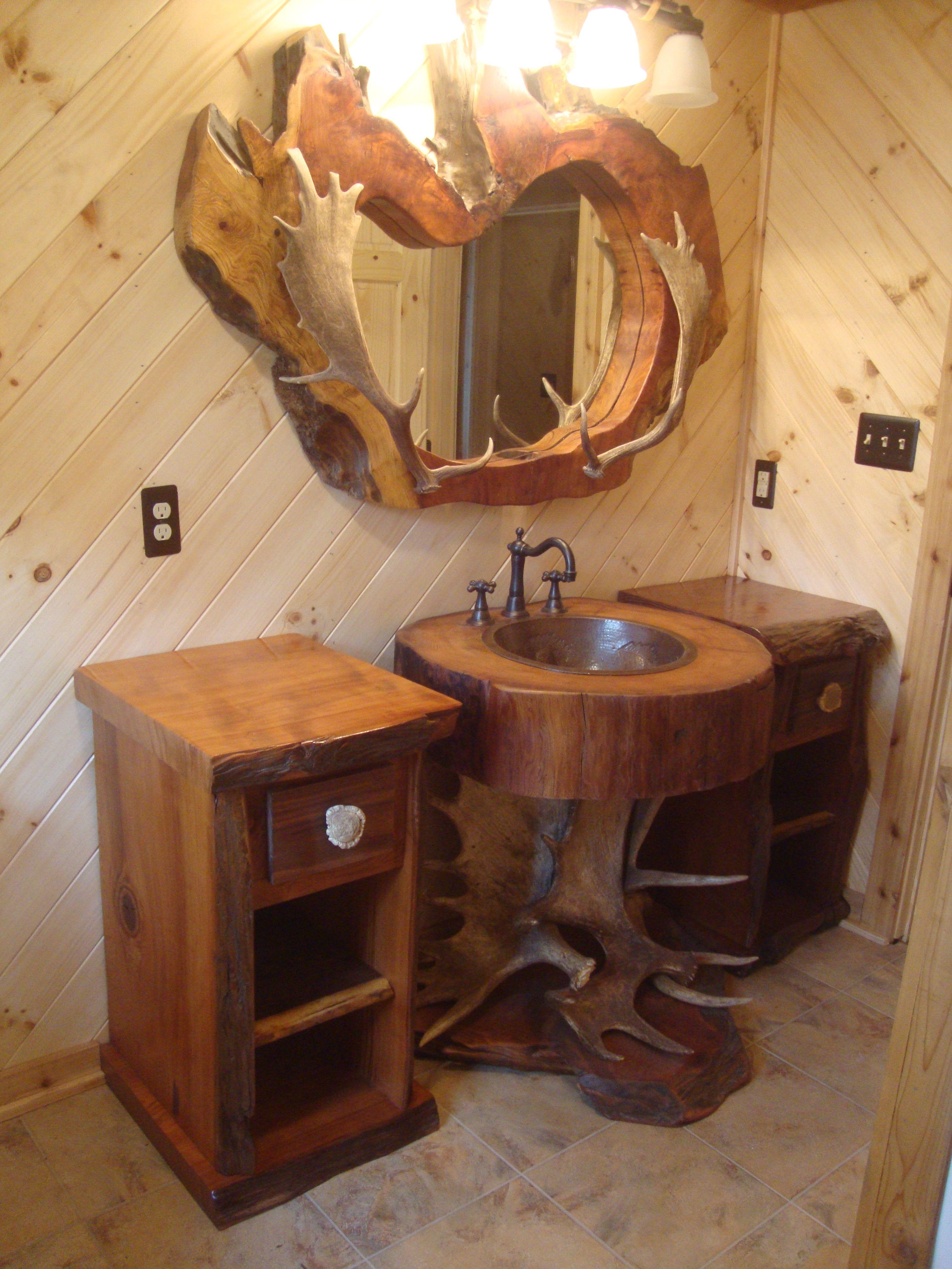 cabin log ideas fresh bathroom decor cabins best