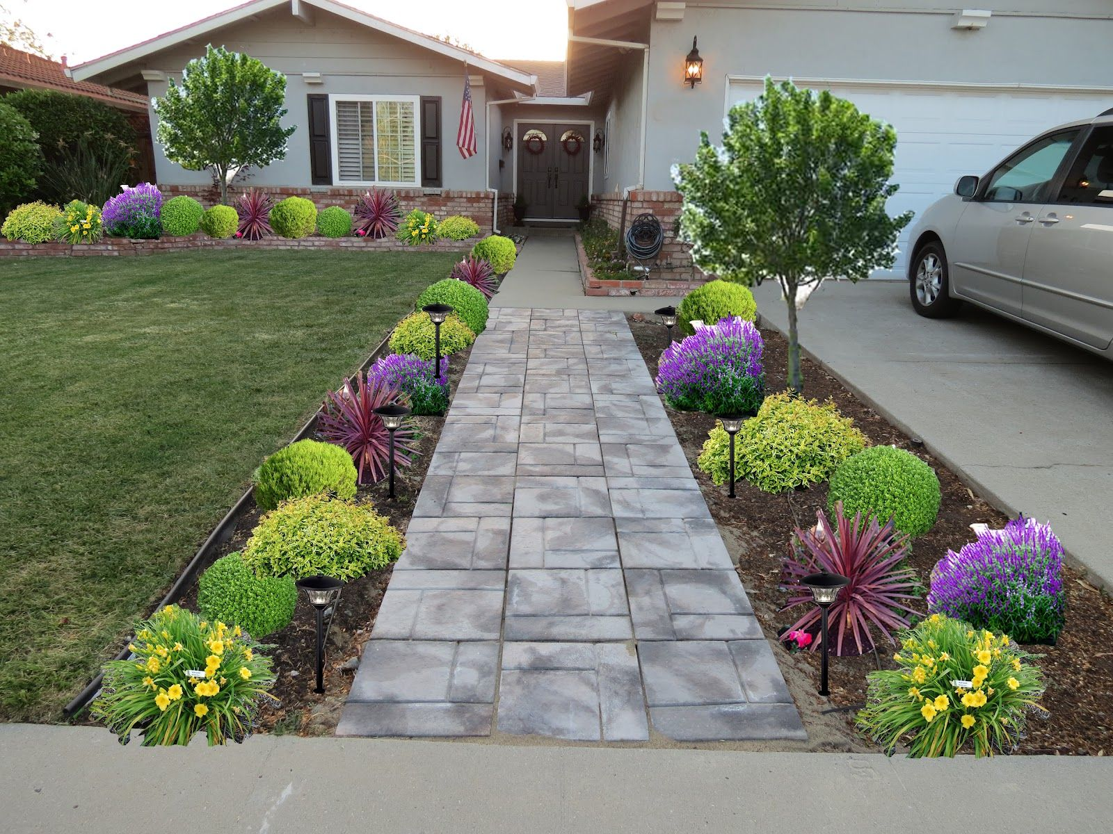 Front Entry Garden Design Ideas What A Difference Eh These Are