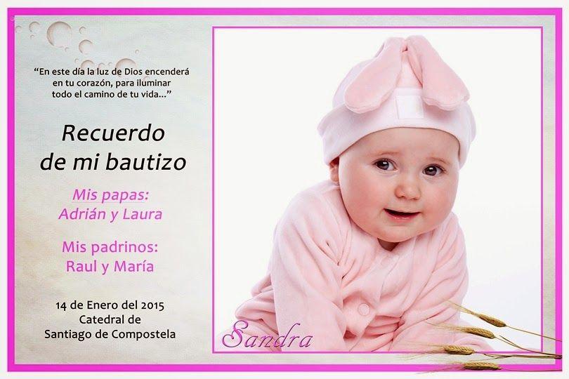 2 plantillas para invitaciones de Bautizo Invitaciones gratis - plantillas para invitaciones gratis