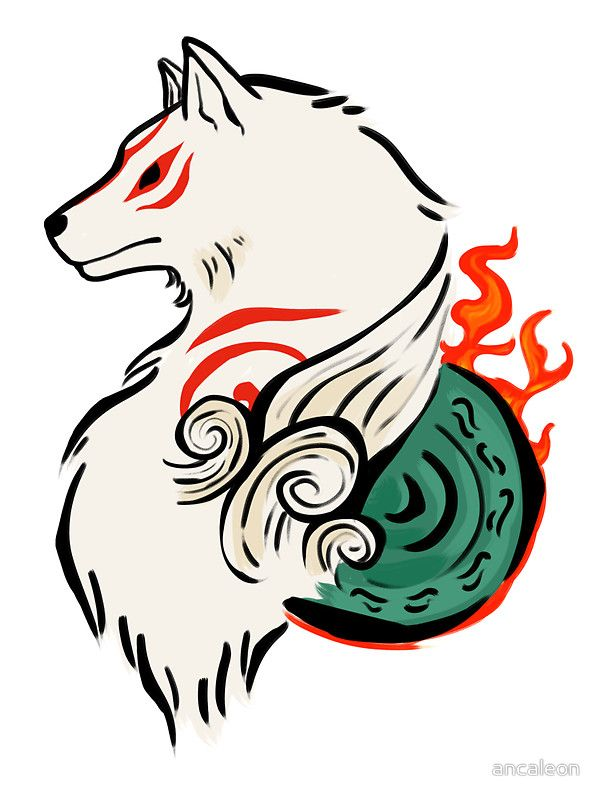 Okami Amaterasu Sticker By Ancaleon Amaterasu Art Japanese
