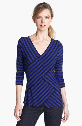 a117d747c2268 Vince Camuto Tiered Stripe Top (Regular   Petite) available at  Nordstrom