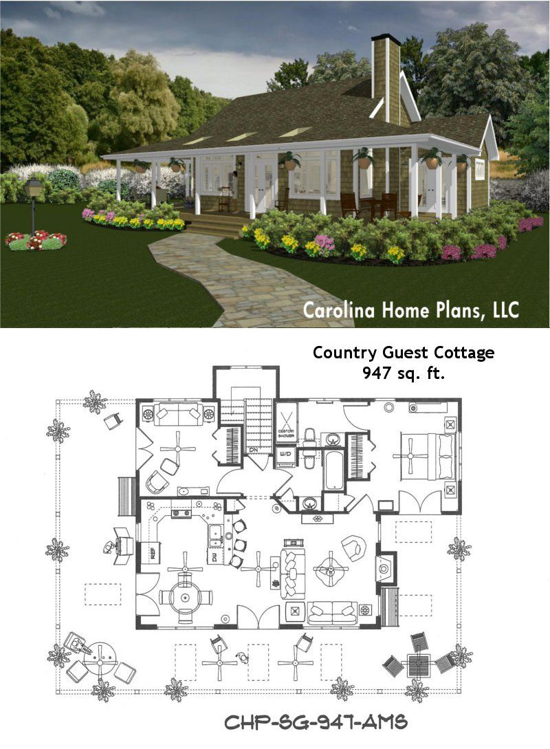 Pin By Jane T Lowe On Small Is Great Guest House Plans House Plans Guest Cottage
