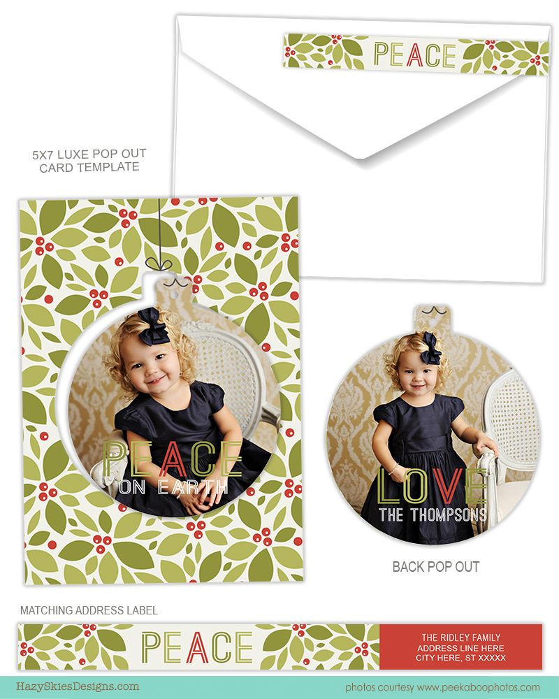 Luxe Pop Card Photoshop Templates For Photographers Millers Lab Specs Luxe Pop Card Template Chr Christmas Card Template Card Templates Christmas Templates