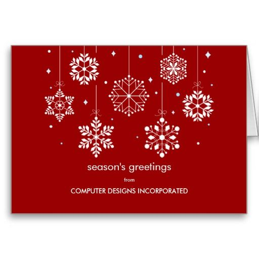 snowflakes corporate christmas card corporate office christmas