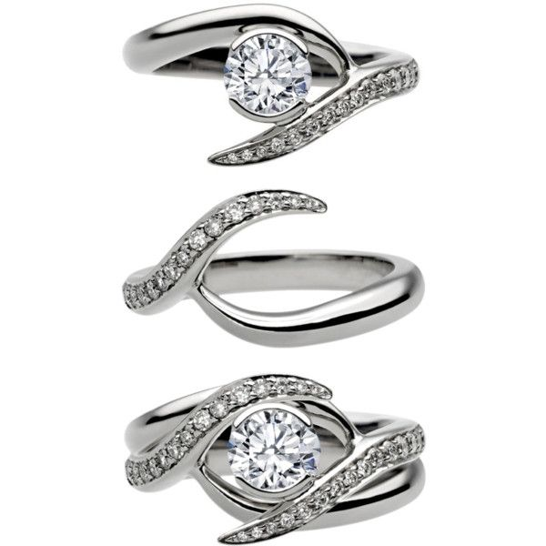 Entwined Bridal Set: Engagement Ring & Matching Wedding