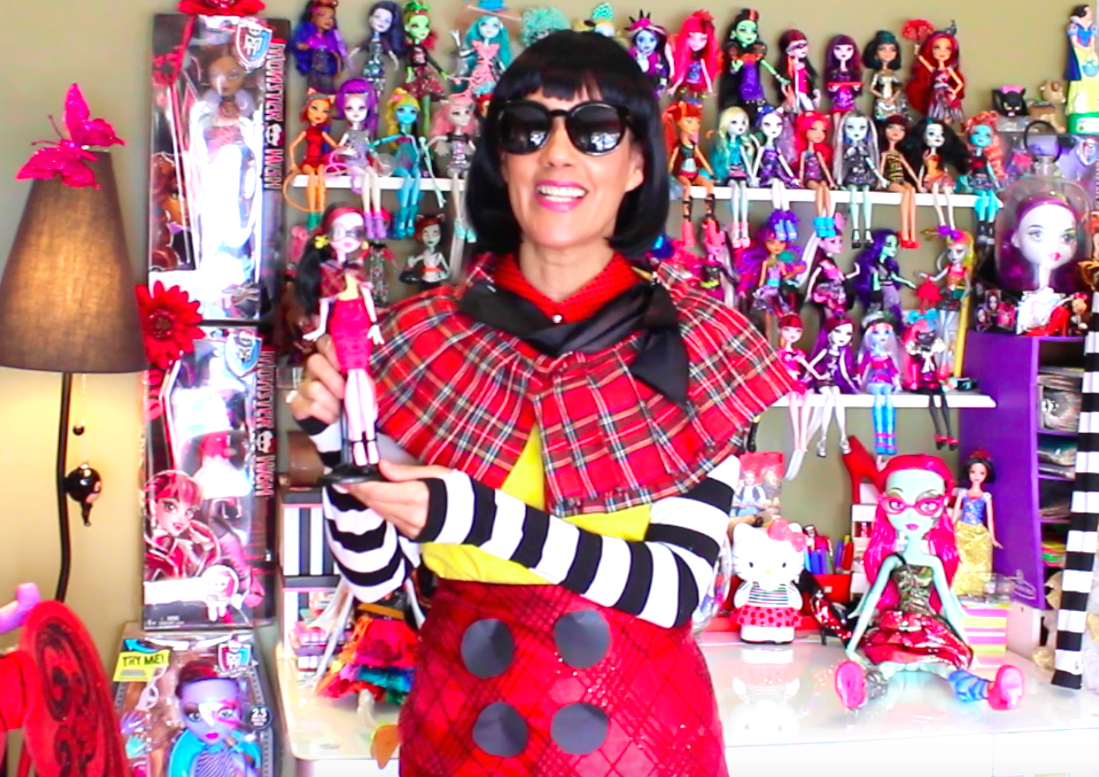 Dress #38 in the video series 100 dresses/100 days/100 days of Monster High dolls. I dressed like Draculaura in her red, plaid shopping outfit! Follow along daily on Instagram as we get to dress and doll #100! @Vanessa Sanddal or You Tube (vanessa sanddal)
