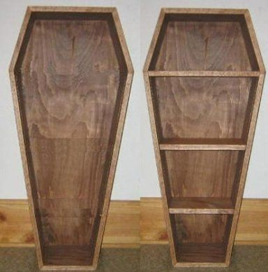 How To Build A Coffin Halloween Prop Or Bookcase Goth Home Decor