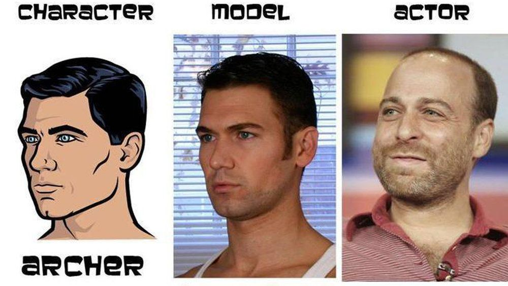 The Characters Models And Voice Actors Of Archer Actor