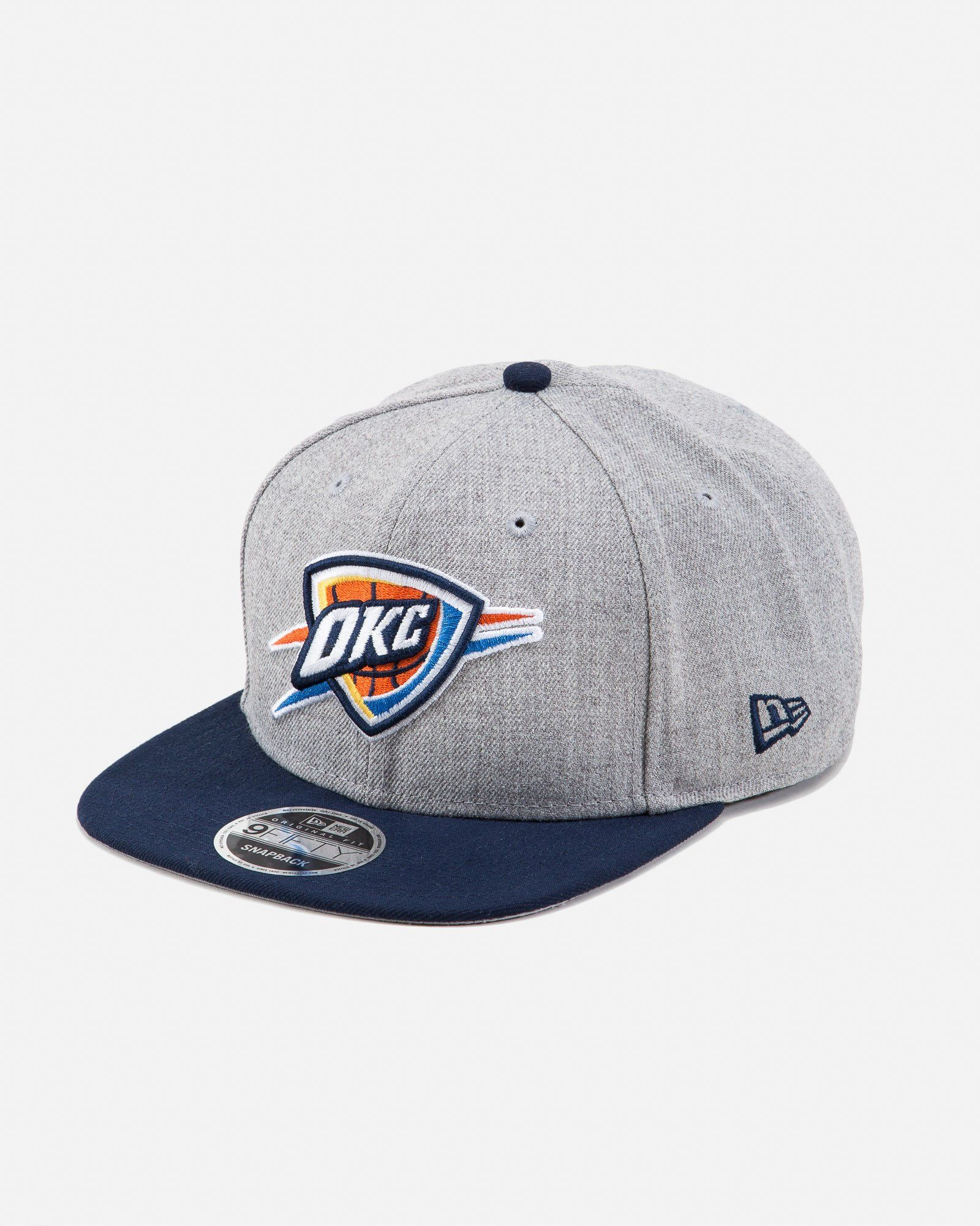 10a677e95df New Era Oklahoma City Thunder 9FIFTY Snapback Hat Grey