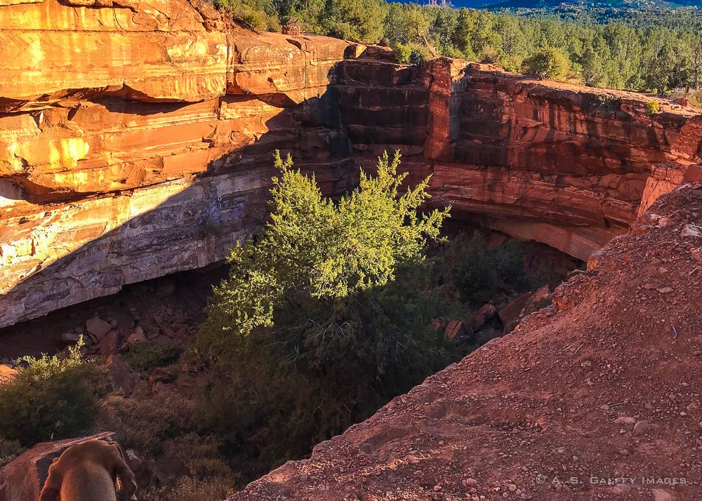 The Devil's Kitchen Sinkhole on the Brins Mesa Trail in Sedona, Arizona