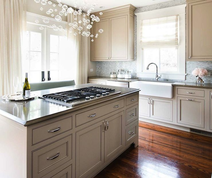 kitchens   gray Ikea kitchen cabinets beveled stone countertops farmhouse  sink mosaic glass tiles backsplash polished. kitchens   gray Ikea kitchen cabinets beveled stone countertops