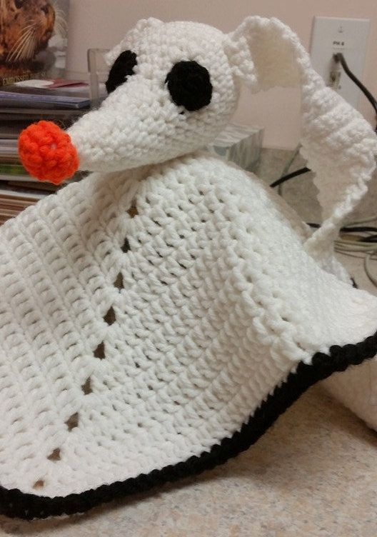 Nightmare before Christmas inspired Crochet Zero ghost dog