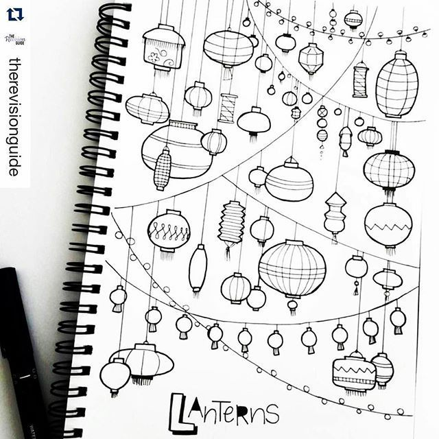 """Planner Of All Things on Instagram: """"I've died and gone to #lantern heaven. How bad do you want to take out your favorite markers and color these?. ・・・ #tbt to a page full of…"""""""