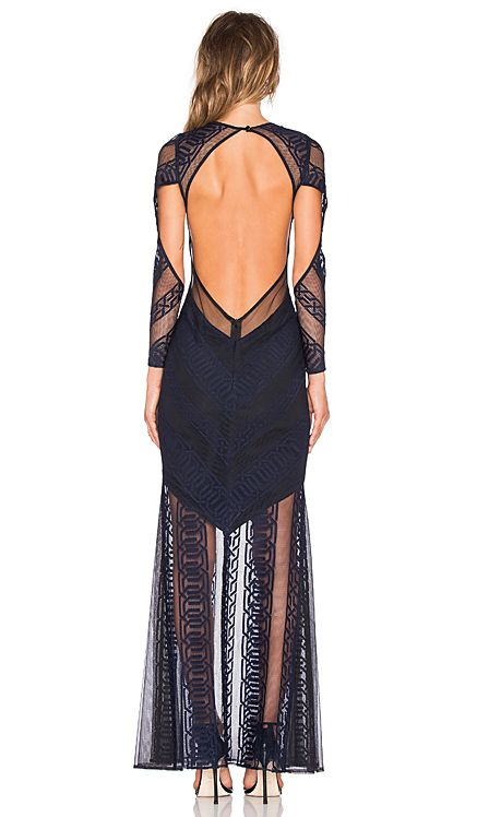 5003db0755d7 Shona Joy Ambrosia Backless Maxi Dress in Navy   Black