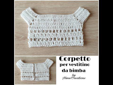 #nunucreations#corpetto#uncinetto# Come fare corpetto per vestitino a uncinetto !!!