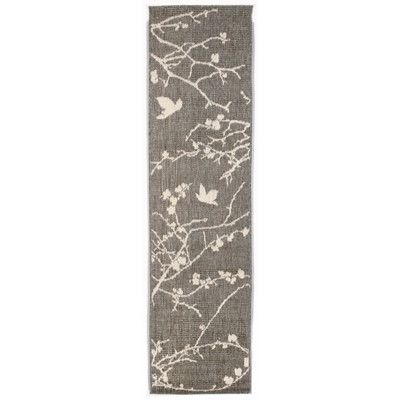 trans ocean terrace silver plum blossom indoor outdoor area rug