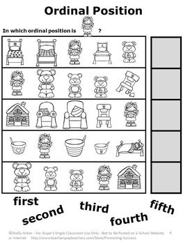 Goldilocks and the Three Bears Math Emergency Sub Plans