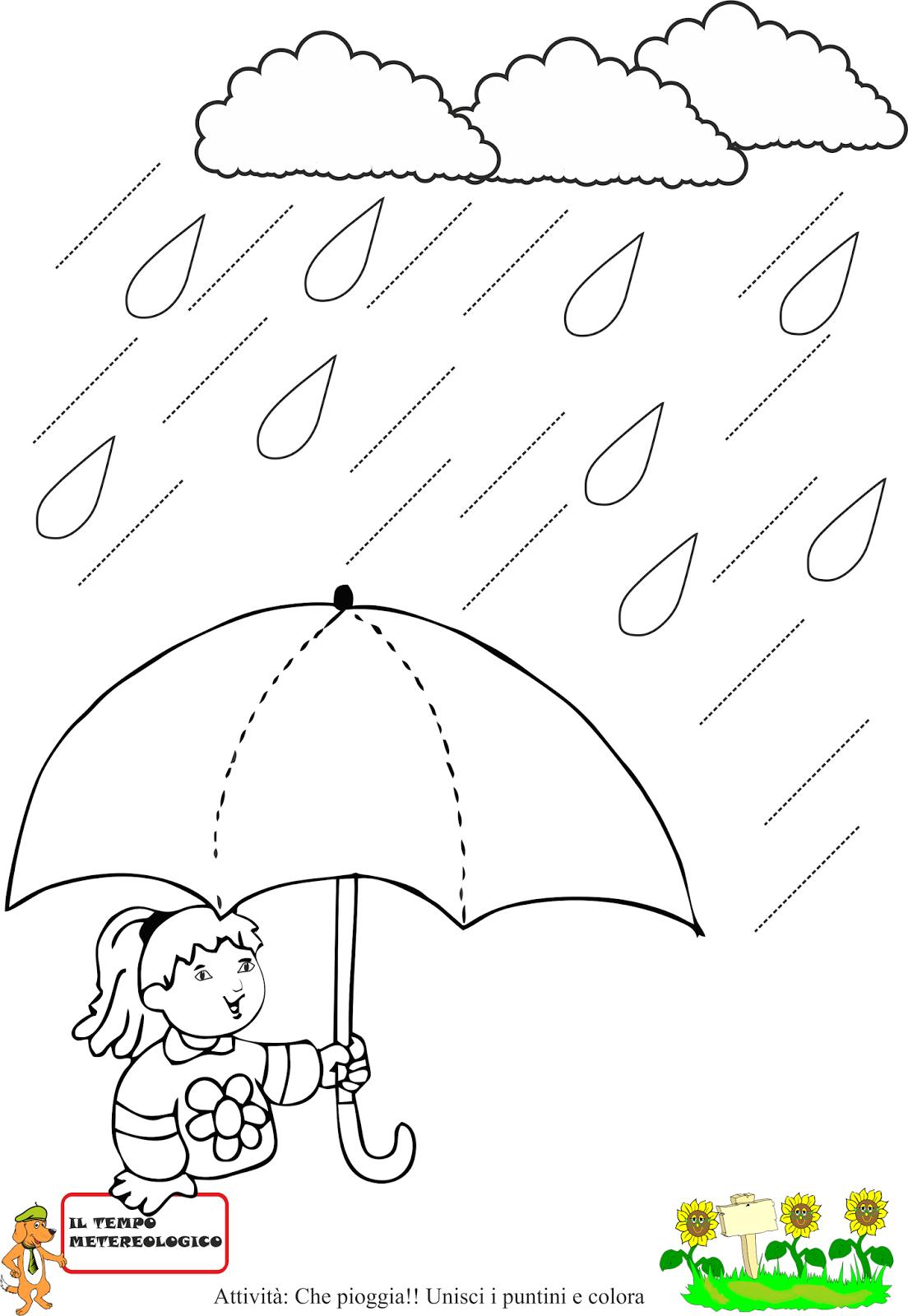 Schede sulla pioggia nauka autunno scuola schede for Schede didattiche scuola infanzia 3 anni