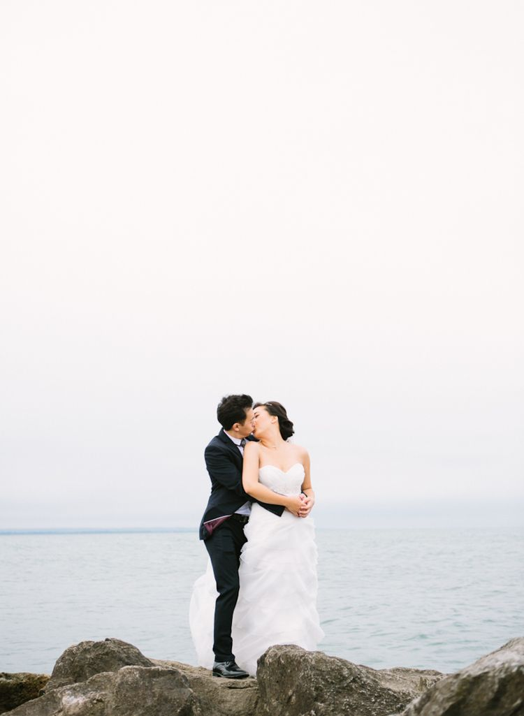 Bride Groom Wedding Beach Lake Photo