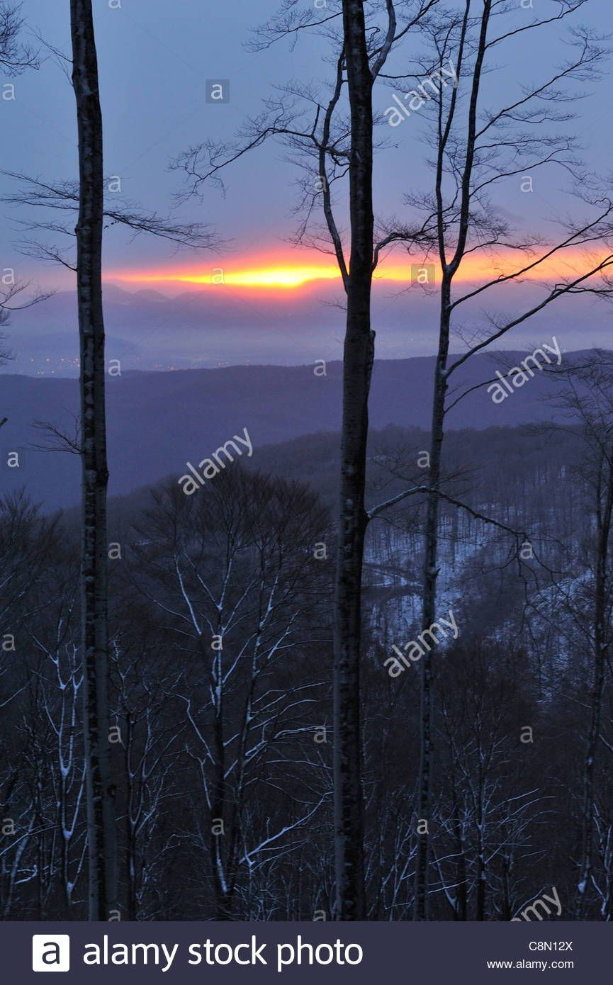 Medvednica Zagreb Outdoor Sunset