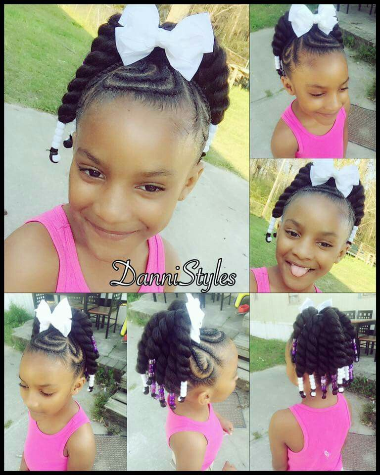Braided Up With Mambo Havana Crochet Ponytails Baby Hairstyles Kids Hairstyles Baby Girl Hairstyles