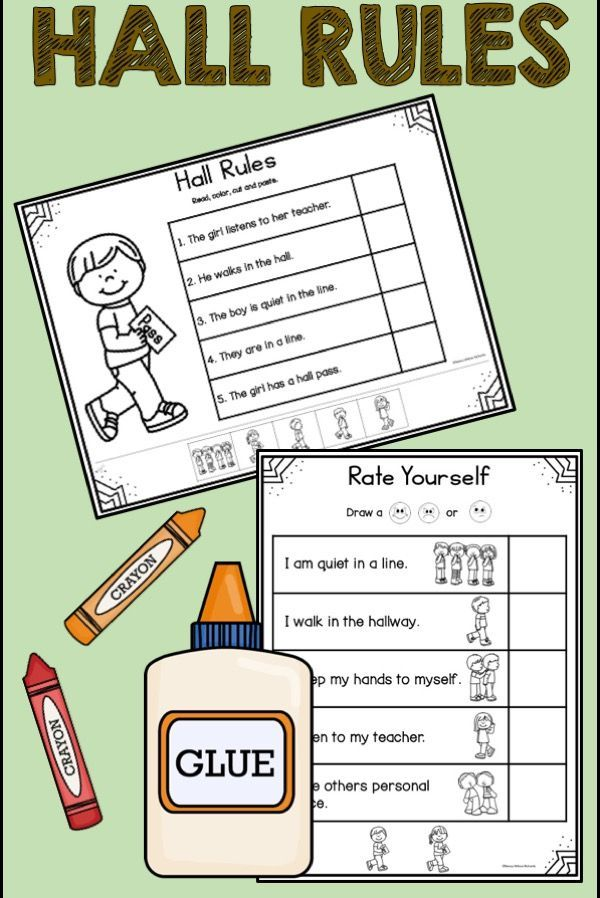 Hall Rules | School Rules | Hall Rules Social Story These activities are perfect for teaching elementary kids about hall rules! Use the ideas to get your kindergarten to third grade students motivated to follow the rules. The printables include everything from posters to writing activities to certificates.