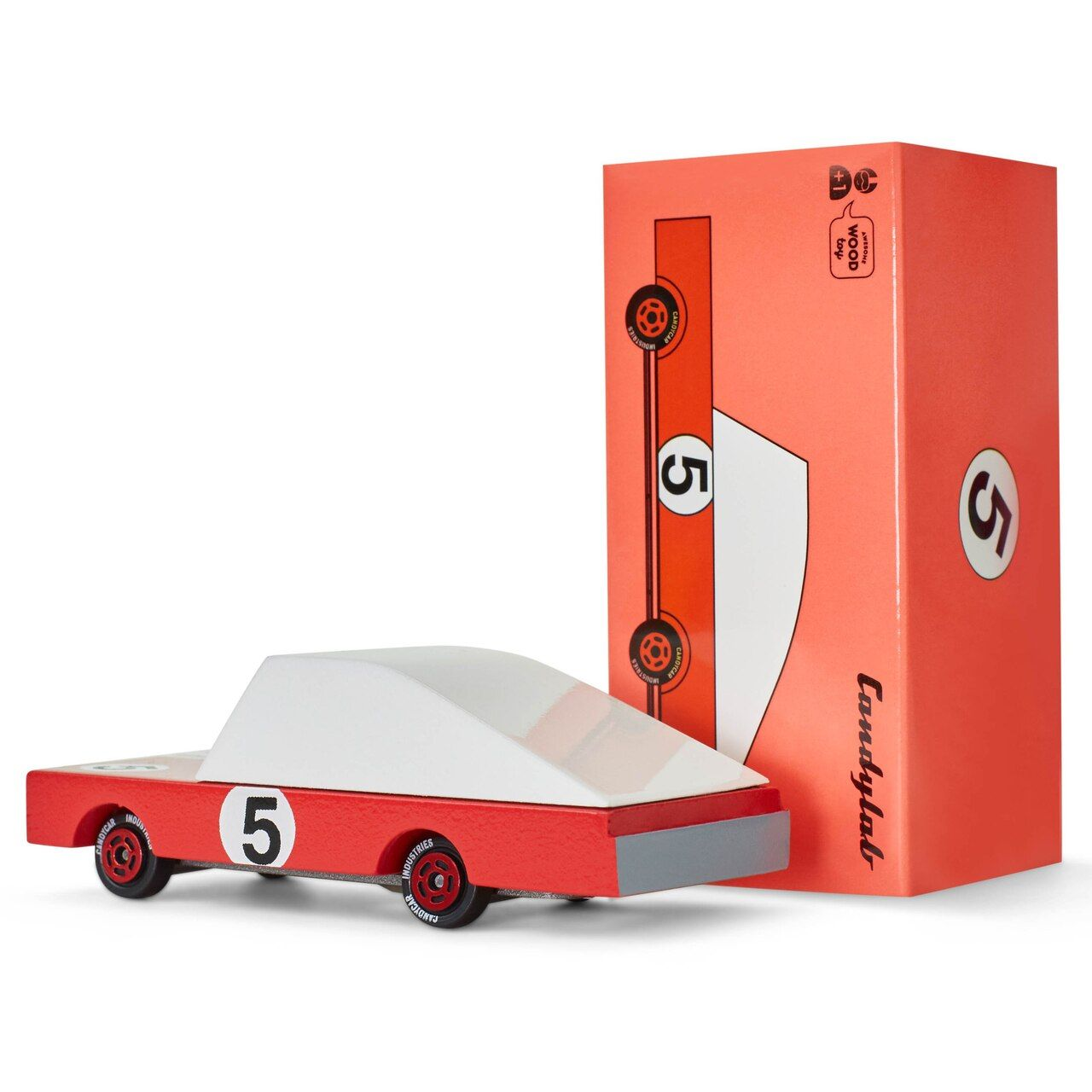 Candycar Red Racer 5 Vinyl Toys Racer Wooden Toy Car