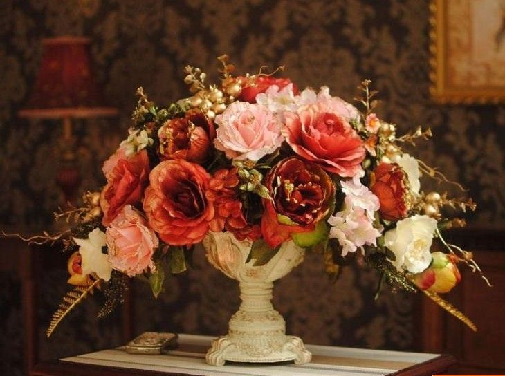 silk flower arrangements for weddings | ... flower,European flower arrangement ,home /wedding decorations,free