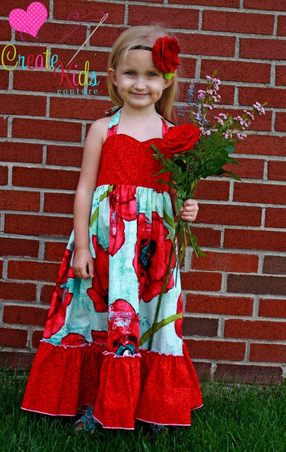 Peony\'s Girls and Tweens Sweetheart Maxi Dress PDF Pattern | Nähen