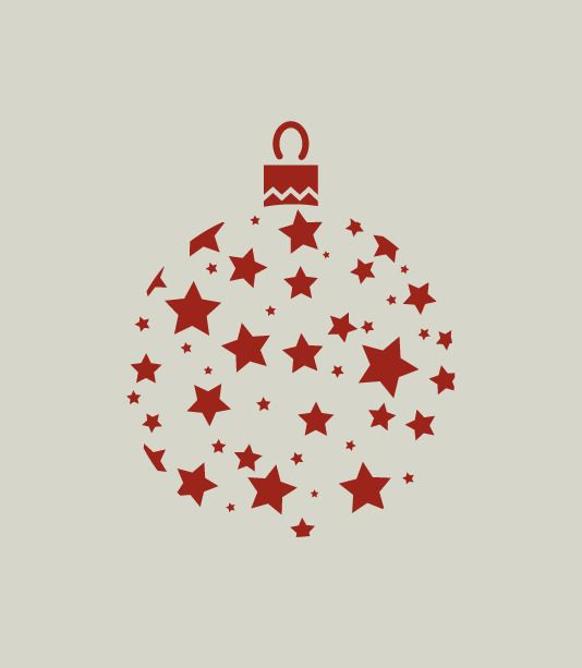 Boule de Noël. Décoration de Noël. Pochoir en vinyle adhésif (ref