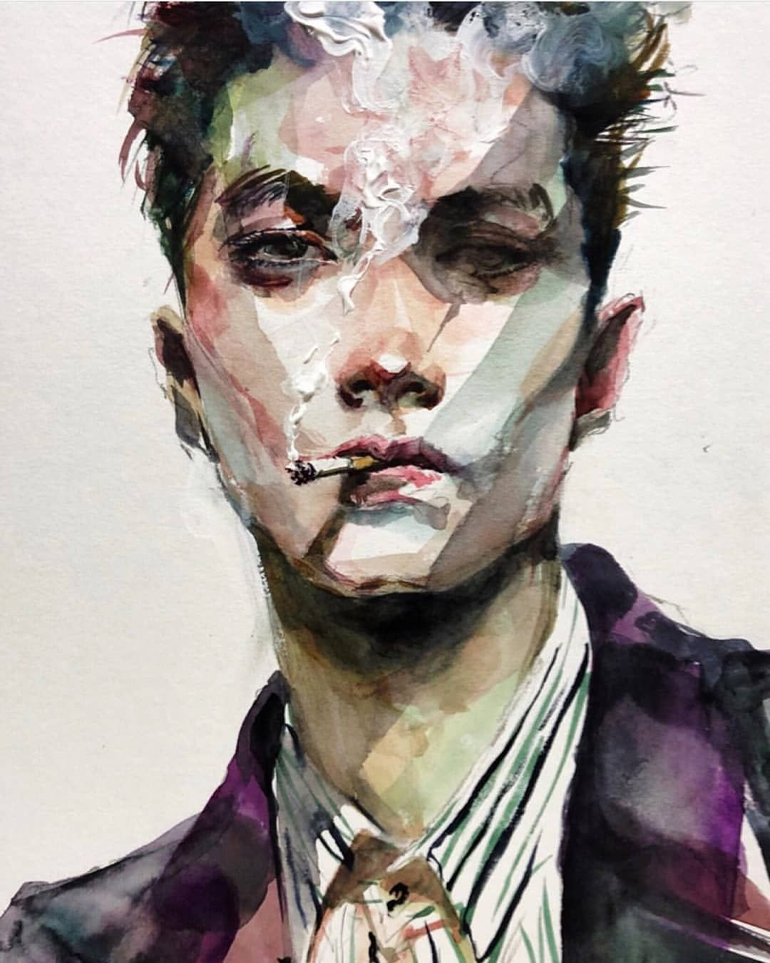 Watercolor Art On Instagram Via Portraits Magic