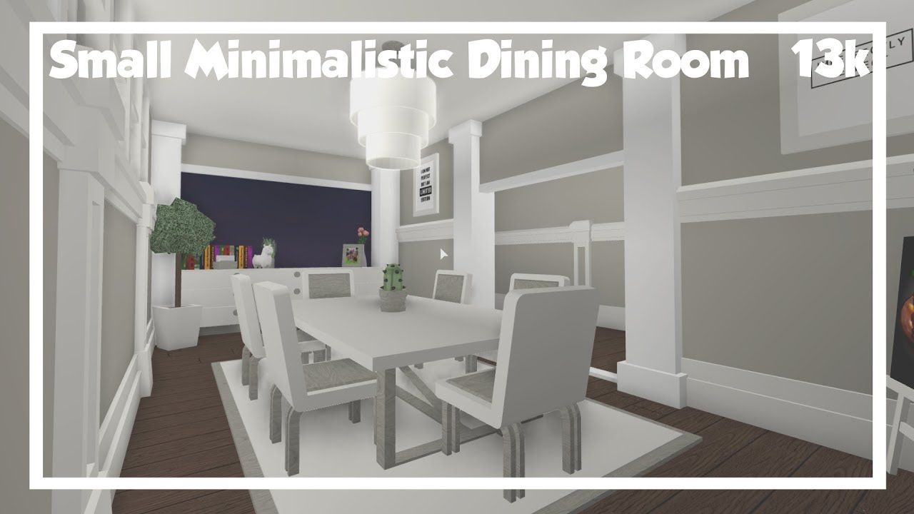 Bloxburg Small Minimalistic Dining Room Speedbuild Front Room Decor 74573002 Sitting Room Design 2016 C Dining Room Small House Rooms Front Room Decor