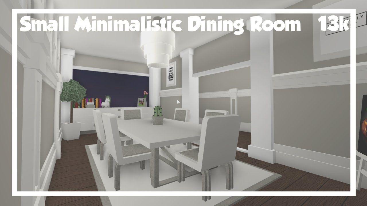 Bloxburg Small Minimalistic Dining Room Speedbuild Front