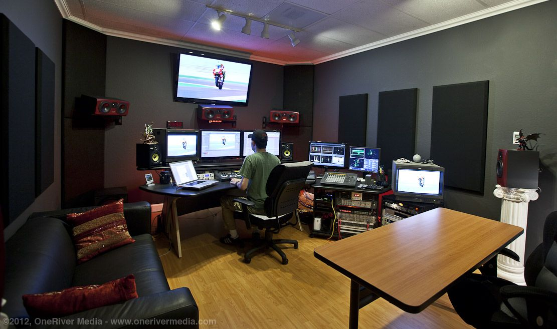 this is an example of a tv editing suite which could be
