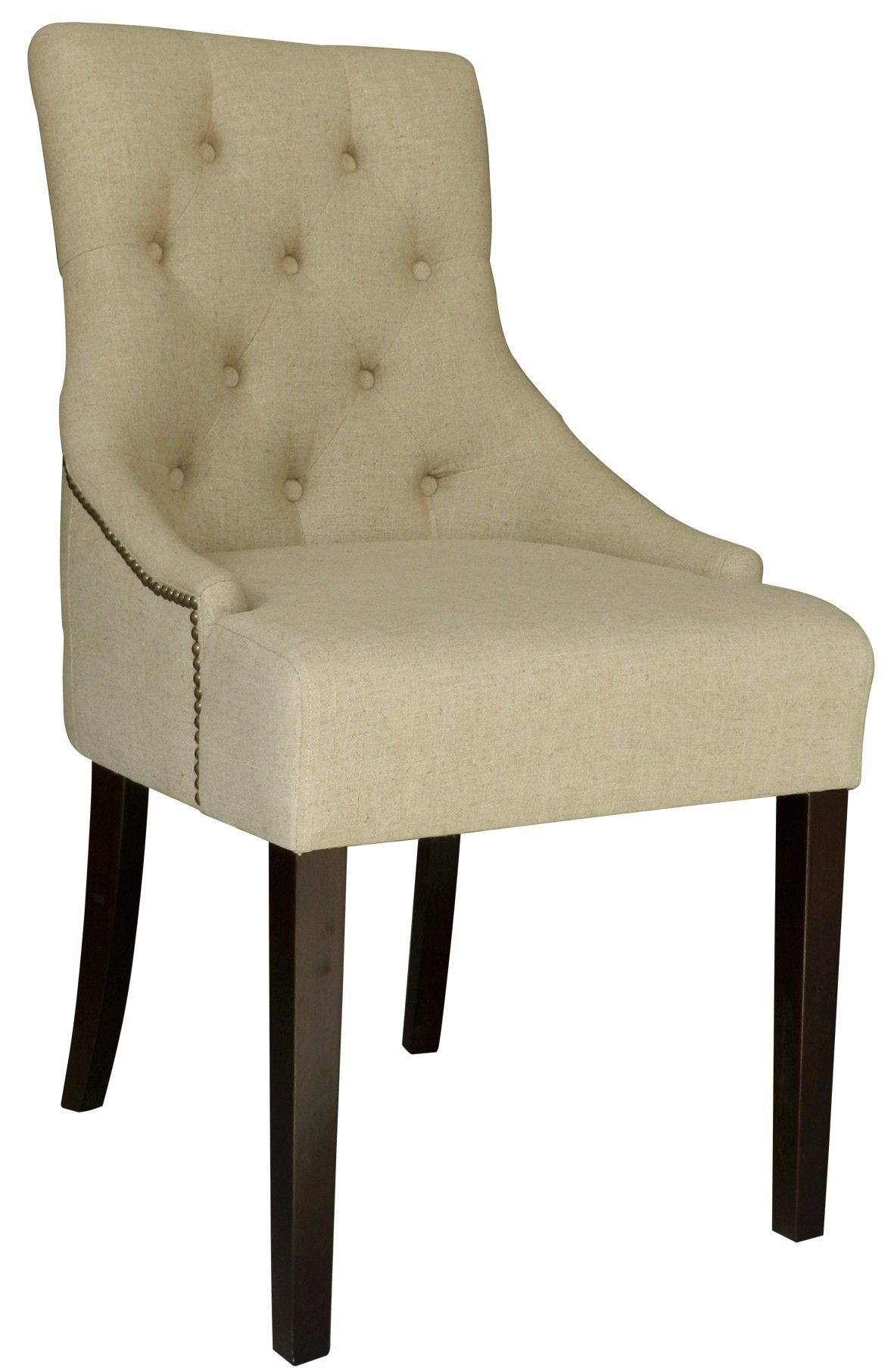Best Gorgeous Accent Chair In A Soft Neutral Linen Fabric 640 x 480