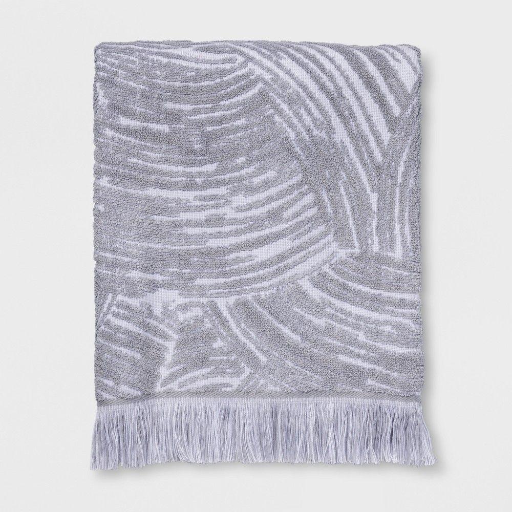 Woodgrain Fan Bath Towel Gray Project 62 Decorative Towels Bath Towels Wood Grain