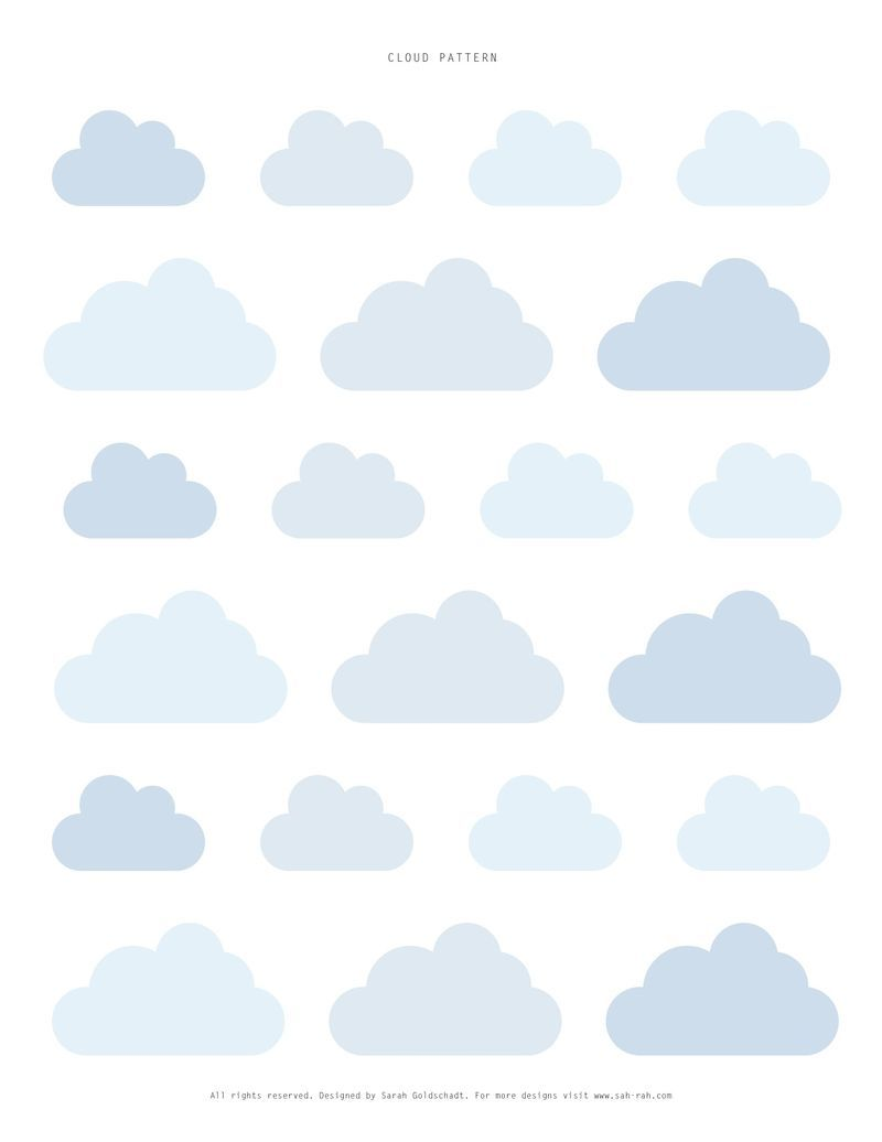 Cloud Templates From Sweet Paul Plus Some Other Cute Camping
