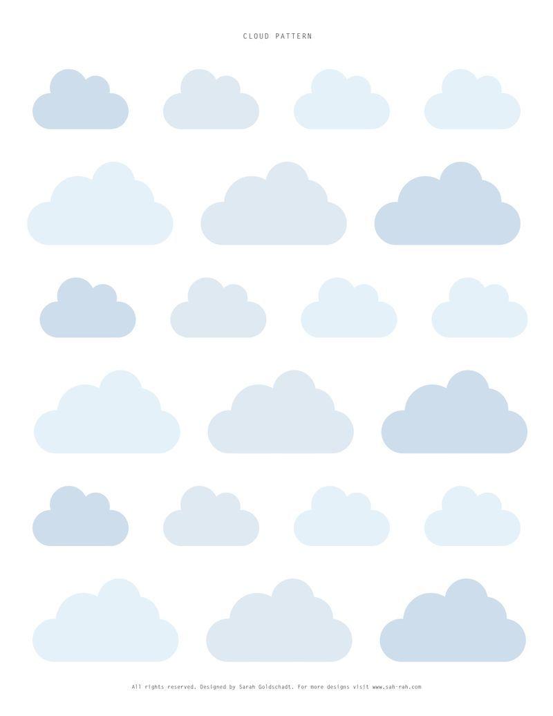 free template u2026 printable pinterest cloud template cloud