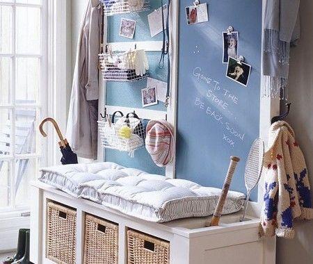 Projet à faire soi-même  banc de rangement Clutter and Shelves