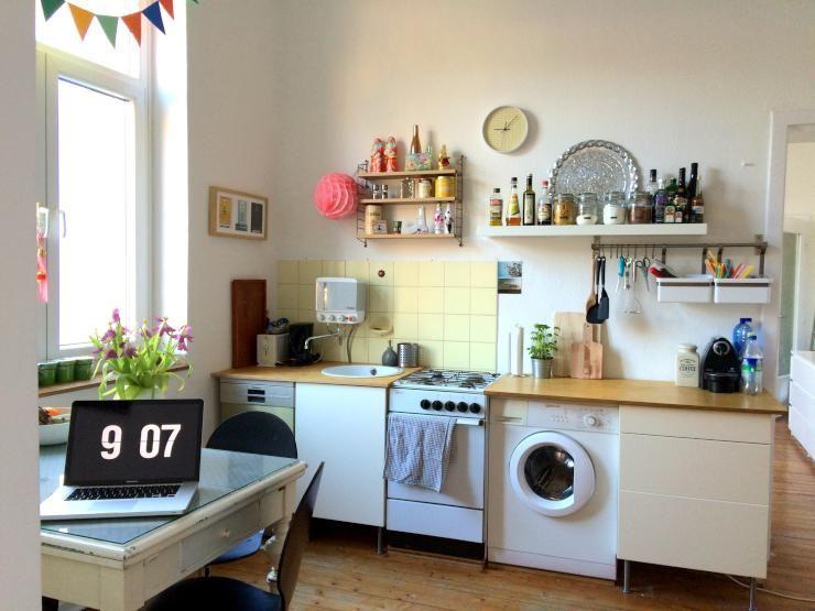 Bunte Küche in Kölner Altbauwohnung - Wohnung in Köln-Neustadt-Süd ...