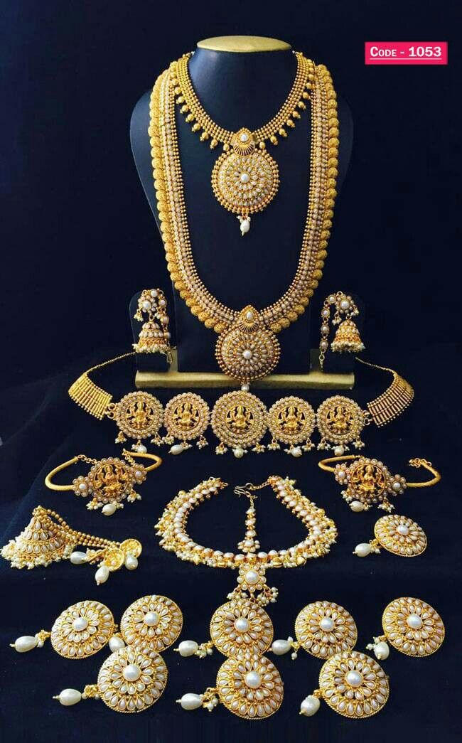 Imitation Jewellery Full Bridal Set South Indian Style