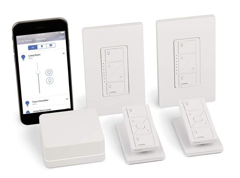 Lutron P Bdg Pkg2w N A Caseta Wireless Smart Lighting In Wall Dimmer Kit Smart Lighting Light Dimmer Switch Lutron