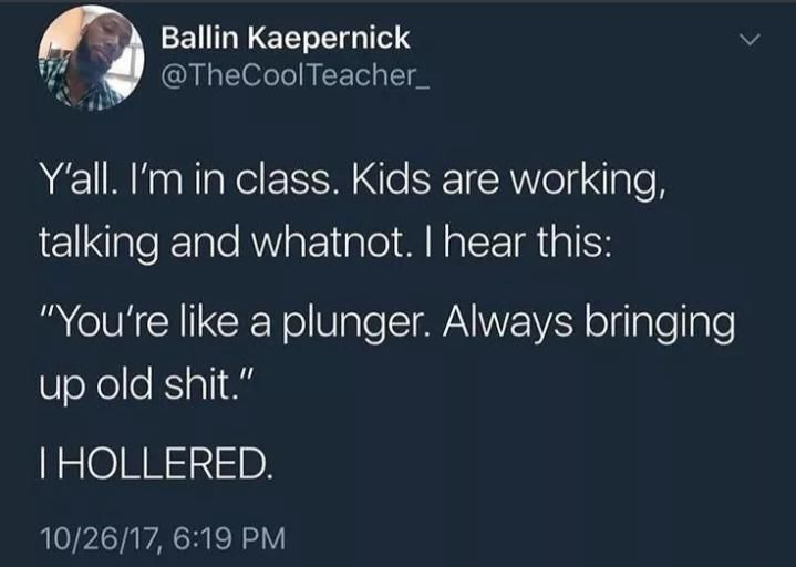 Wise kid, wise words.