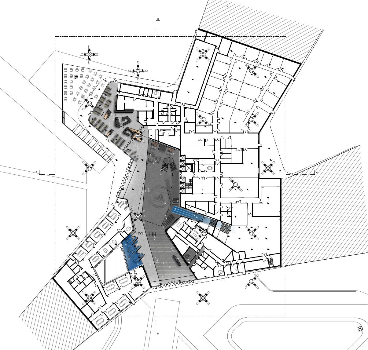 conferencia Repelente doble  Vierendeel trusses in Behnisch Architekten's Adidas Arena.   Floornature    Behnisch architekten, World of sports, Arena