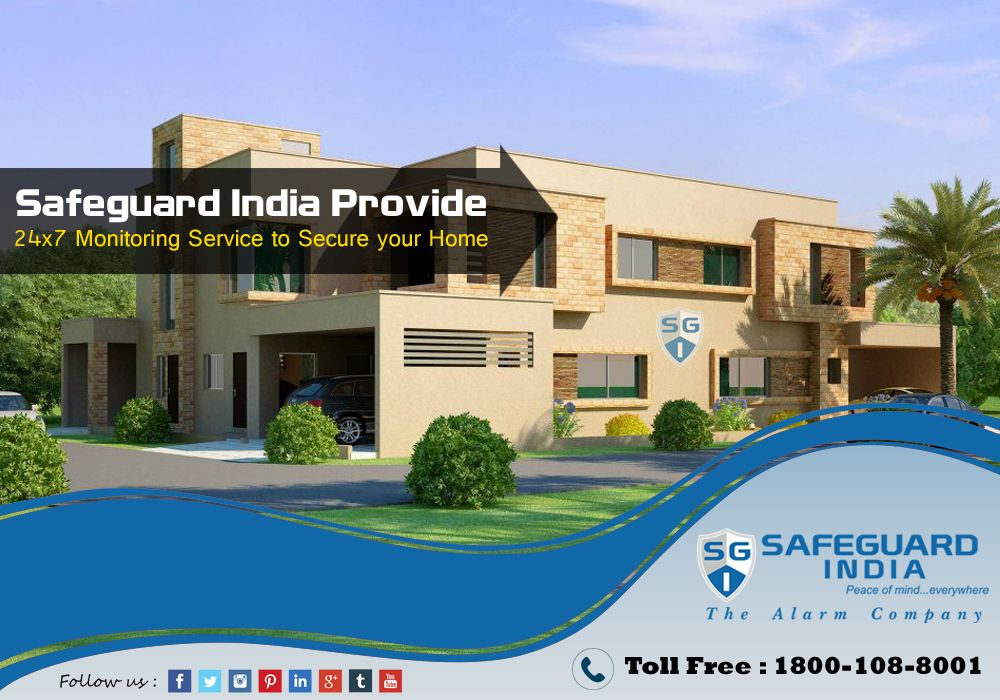 Safeguardindia Provide 24x7 Monitoring Service to Secure Your Home  For More Information Visit Our Website: https://www.facebook.com/safeguardindia/ & call us on our Toll Free number: 1800-108-8001 @sgi2015sm #sgi #safeguardindia #monitoringsystem