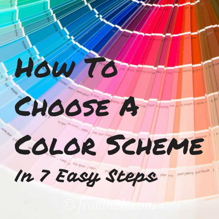 How To Choose A Color Scheme in 7 Easy Steps | Room, Apartments and ...
