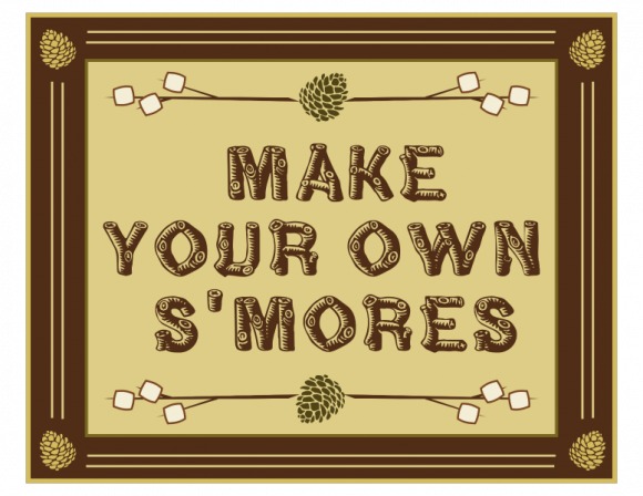 photograph relating to Free Printable Camping Signs named Free of charge Tenting Celebration Printables (with Do it yourself Smores and Path